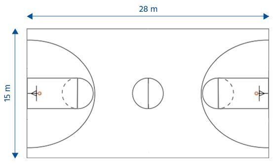 Le terrain de basket