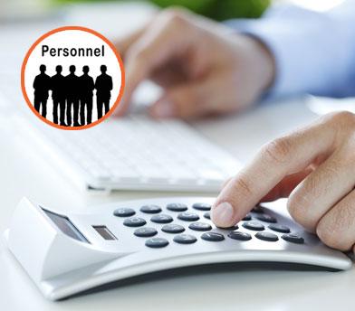 Calculez les coûts liés au personnel