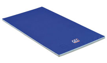 Tapis de gym houssé