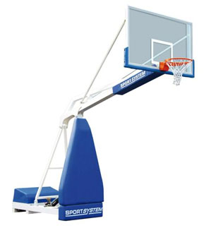 Buts de basket mobiles 2, 25 m homologué FIBA level 3