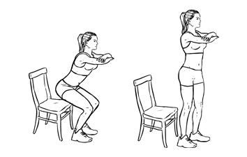 Squat sur chaise