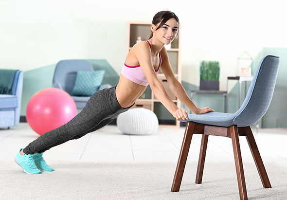 Circuit training avec chaise