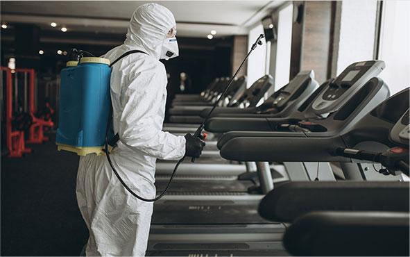Service de nettoyage et de désinfection des installations sportives