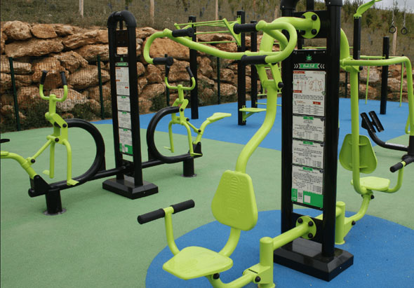 Mises en situation d'équipements Fitness & Street-Workout